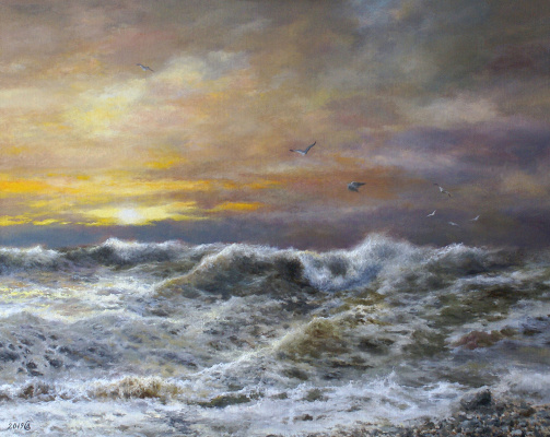 Сергей Владимирович Дорофеев. The sea broke out at the end of the day