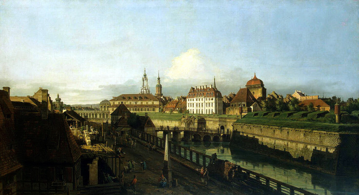 Bernardo Bellotto. Old fortifications of Dresden