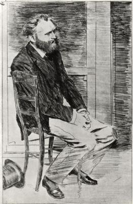 Edgar Degas. Portrait of Edward Manet