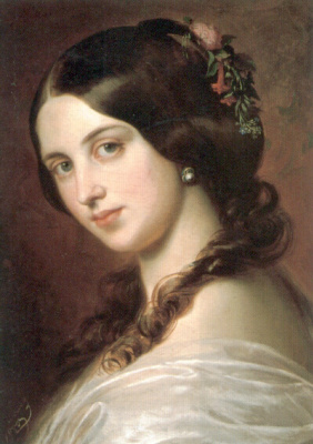 Eugene de Blaas. Portrait of a girl