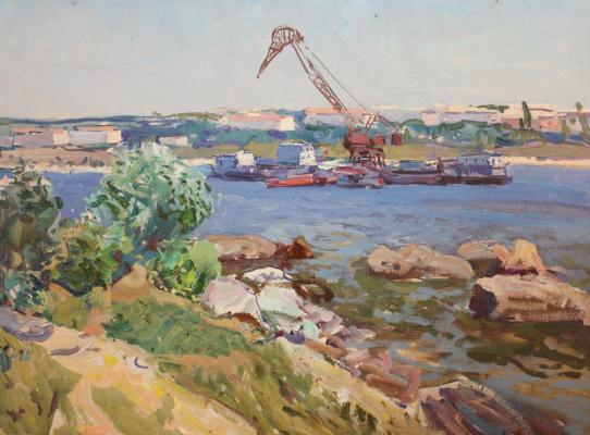 Виктор Кириллович Гайдук. Морской порт (Песко-черпалка)