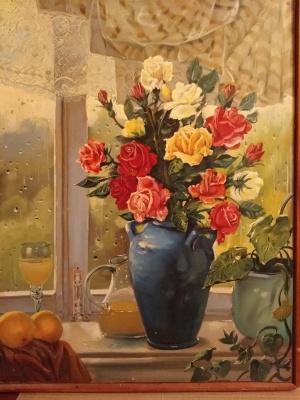 Alexander Grigorievich Serdyukov. Still life with a vase