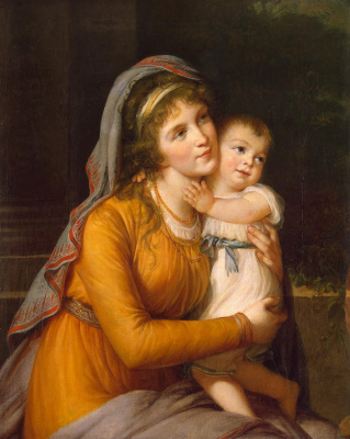 Elizabeth Vigee Le Brun. Portrait of Countess Anna Stroganova with her son