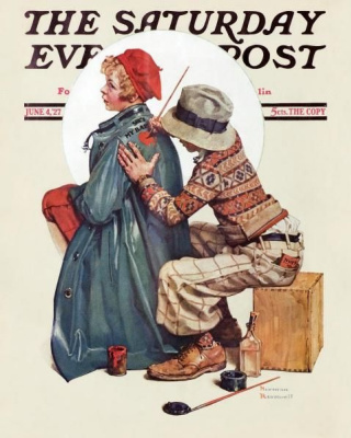 Norman Rockwell. Drawing