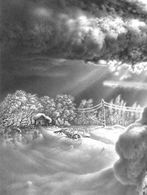 Гурам Николаевич Доленджашвили. Имеретинская зима (фрагмент)