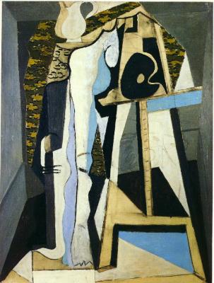 Пабло Пикассо. Интерьер с мольбертом