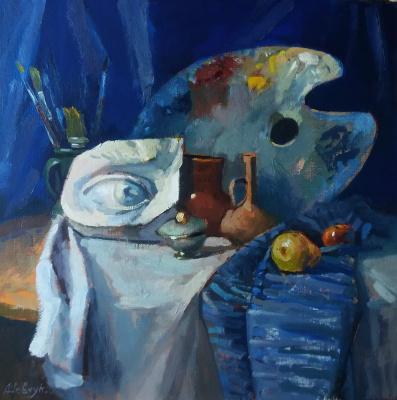 Андрей Шевчук. Натюрморт с палитрой.