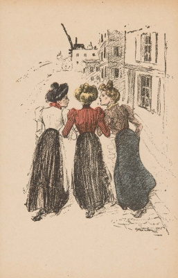 Theophile-Alexander Steinlen. Fascinating conversation on the walk