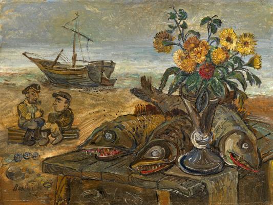 David Davidovich Burliuk. Fishermen