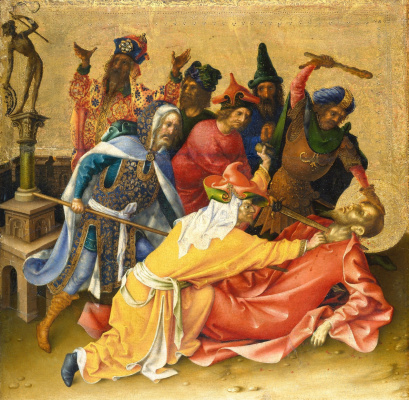 Stefan Lochner. Martyrdom of St. Thomas.