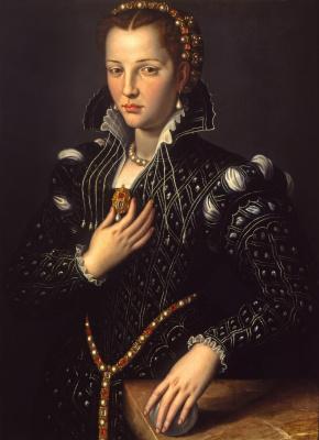Agnolo Bronzino. Portrait of Lucretia Medici
