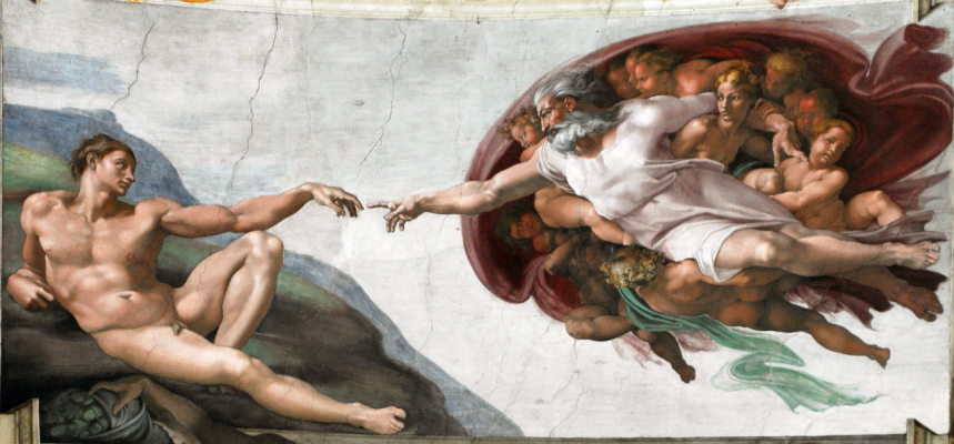 Michelangelo Buonarroti. The Creation Of Adam