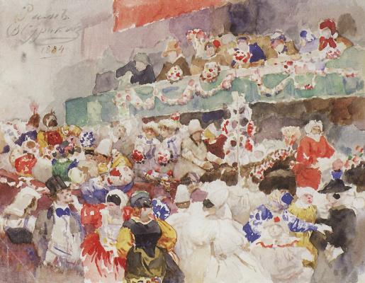 Vasily Ivanovich Surikov. Roman carnival