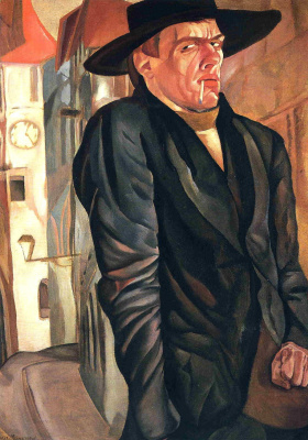 Борис Дмитриевич Григорьев. Автопортрет