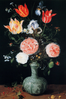 Jan Bruegel The Elder. Flowers in a vase