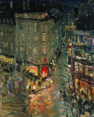 Konstantin Korovin. Paris. Boulevard Of Capucines