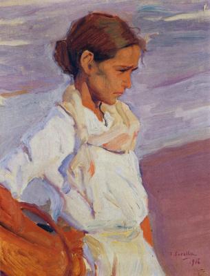 Joaquin Sorolla (Soroya). Fisherwoman from Valencia