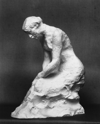 Auguste Rodin. A young woman on her knees