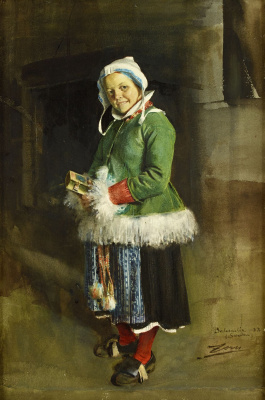 Anders Zorn. The girl with the book