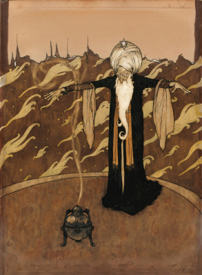 Edmund Dulac. The wizard with the censer.