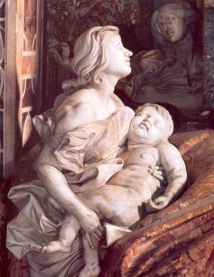 Gian Lorenzo Bernini. Tomb of Pope Alexander VII (detail)