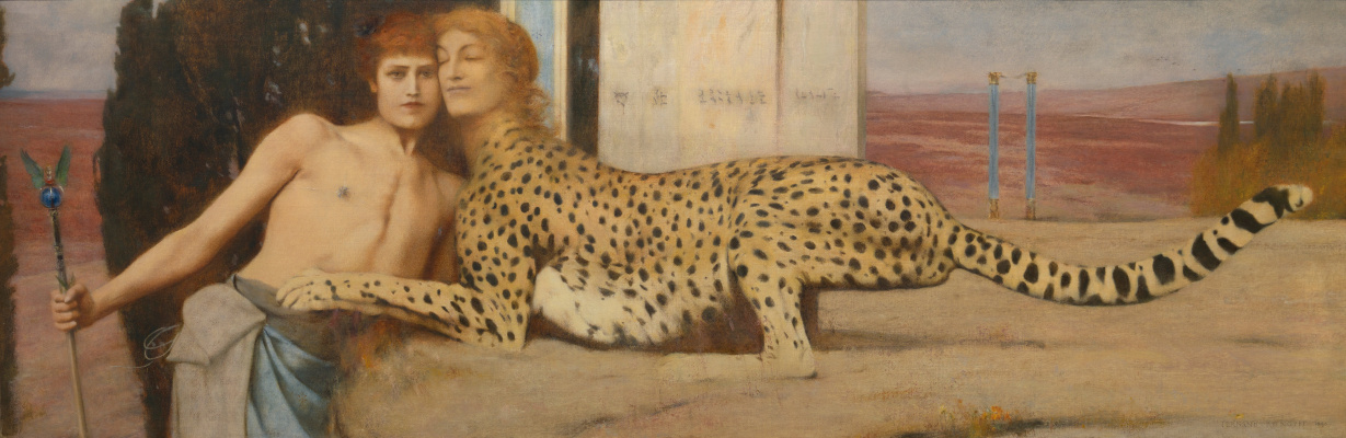 Fernand Knopf. Art. The tenderness of the Sphinx