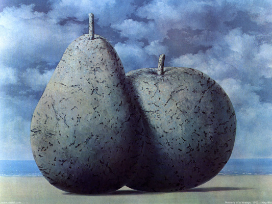 René Magritte. The memory of the journey