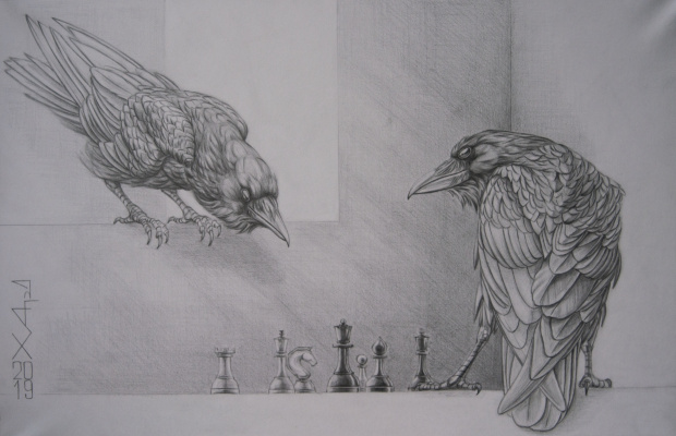 Alexander Hardin. Not all chess players are ravens