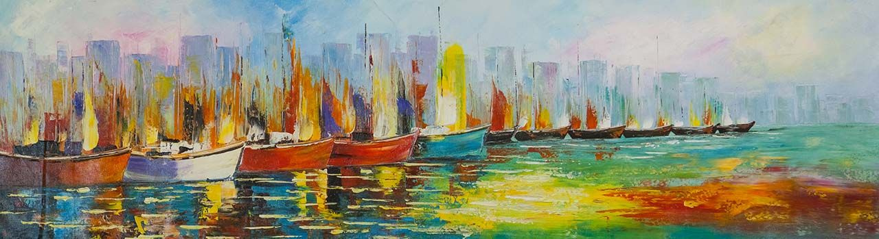 """(no name). Boats N9. Series """"Marine multicolored"""""""