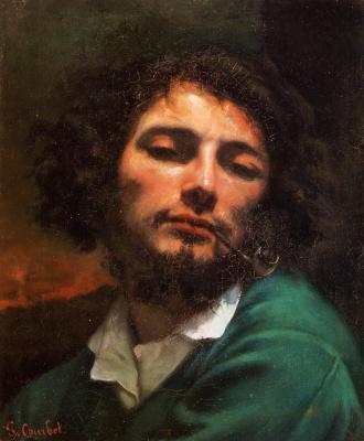 Гюстав Курбе. Портрет художника мужчина с трубкой