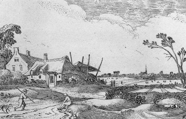 Даниэль ван Хейл. Пейзаж с фермой