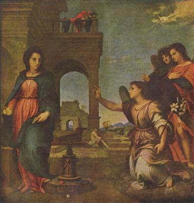 Андреа дель Сарто. Благовещение