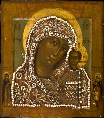 Unknown artist. The Kazan icon of the Mother of God of XVII - XVIII century.