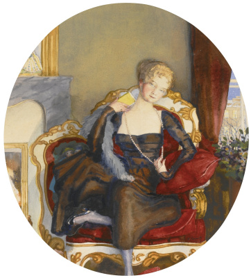 Constantin Somov. Portrait of a lady