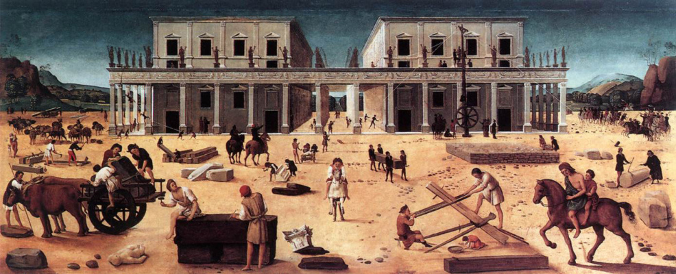 Piero di Cosimo. The building of the Palace
