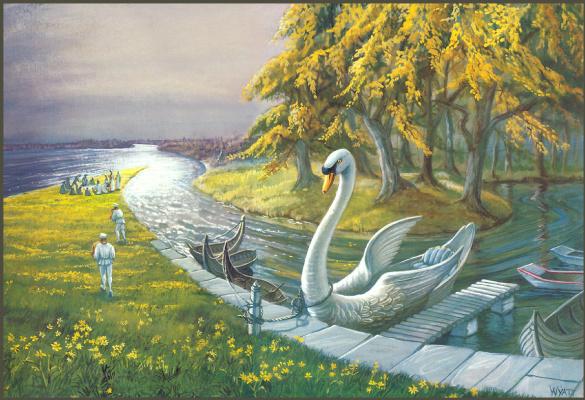 Джоан Вуатт. Лебедь