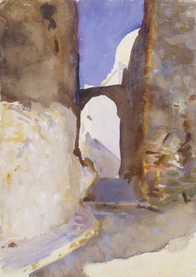 John Singer Sargent. Street. Tangier