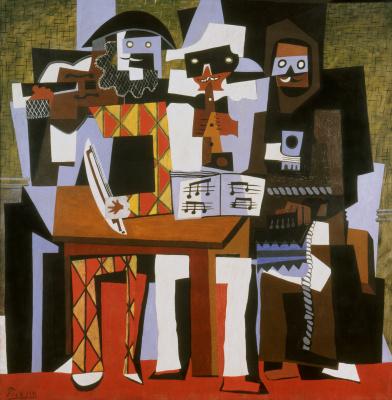 Pablo Picasso. Three musicians