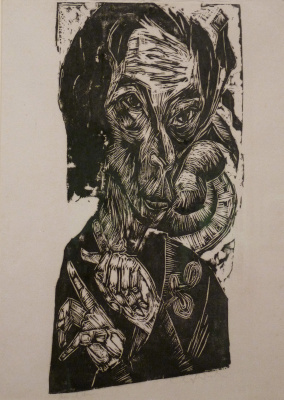 Ernst Ludwig Kirchner. Portrait of a sick man