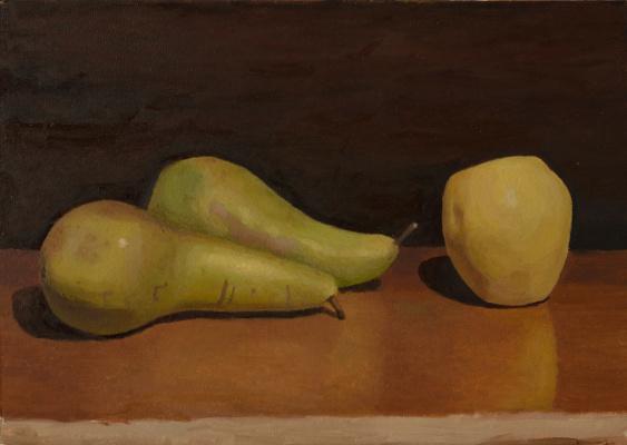 Pavel Viktorovich Petrov. Still life with pears