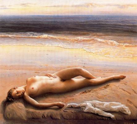 Эдуардо Наранхо. Обнаженная на пляже