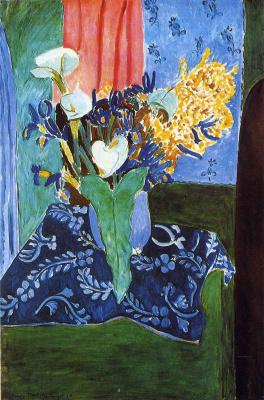 Henri Matisse. Kala lilies, irises and Mimosas