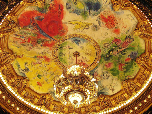 Marc Chagall. The painted ceiling of the Paris Opera