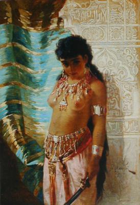 Валерий Иванович Якоби. «Девушка с саблей» 1882