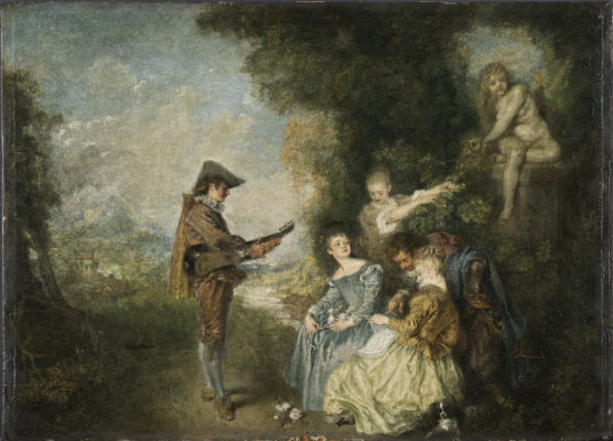 Antoine Watteau. A lesson of love