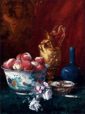 Антуан Воллон. Натюрморт с персиками
