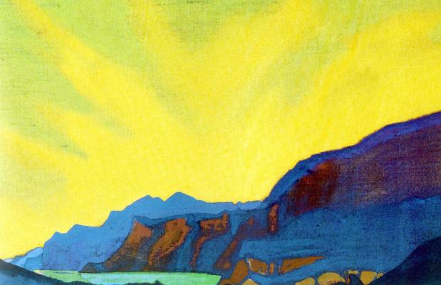 Nicholas Roerich. Mountain lake