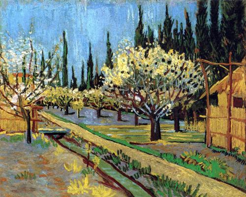 Винсент Ван Гог. Фруктовый сад в окружении кипарисов