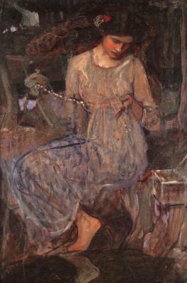 John William Waterhouse. Necklace