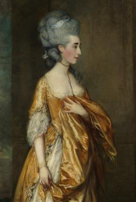 Thomas Gainsborough. Portrait of Mrs. grace Dalrymple Elliot. Fragment
